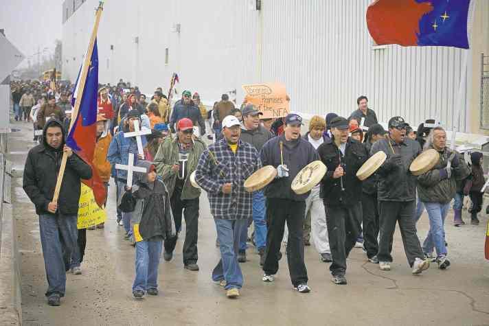 Cross Lake Jenpeg protest